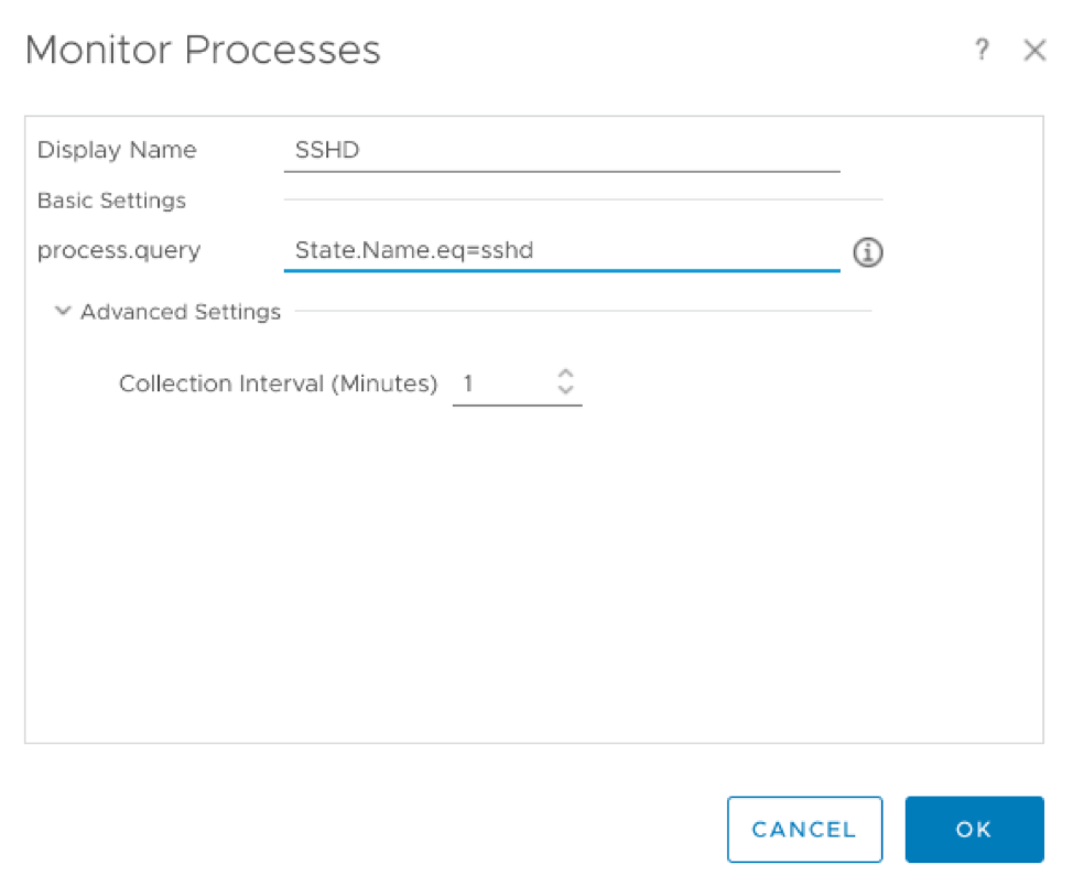 Process and Service Tracking in vRealize Operation